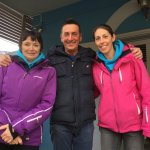 Our ski trip team leaders with our wonderful host Gino!