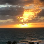 Beautiful sunrise and sunset at Bal Harbour from The Palace. Colors, sun, and shadows