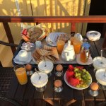 breakfast on private balcony!