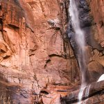 A waterfall in Zion