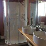 Bathroom also has claw foot bath.