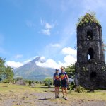 Part of our 10-day tour in Legazpi is a visit to the Cagsawa Ruins.