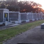 Larges collection of marble tombs in New Orleans