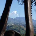 vue du volcan Turrialba des chambres