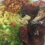 Another wonderful lunch of char siew rice and Hakka noodles