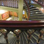 Stunning spiral central staircase