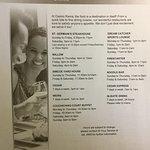 List of restaurants in hotel