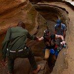 鬼斧神工的峽谷。