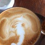 Coffee art - elephant