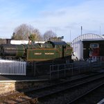 Churston steam-train station right outside!!