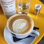 double vegan cappuccino with almond milk ! <3