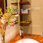 Sink and orchid