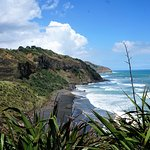 Muriwai Beach with black sand