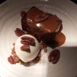 Banana & toffee pudding, salted caramel, candied pecans, vanilla ice-cream (OMG!)