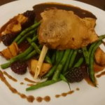 Room service meal. Duck with green beans and saute potaties. This was delicious!