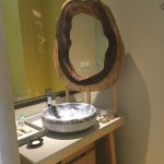 beatiful wooden mirror