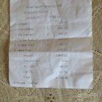 Restaurant Food Bill