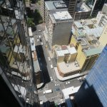 Looking down from the 45th floor.