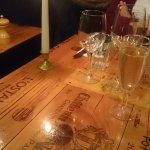 Vinøst inspireret bord
