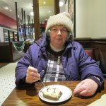That is me eating my marble cheesecake.