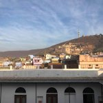 Great view of Taragarh Fort from rooftop restaurant