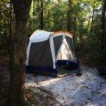 Campsite at Carolina beach