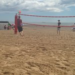 Volley ball on the beach - was great fun! 😀