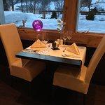 unser Tisch im Restaurant