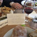 Lunch, wine and an autograph :-)