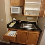 Kitchenette area - plates and flatware included