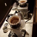 Pour over coffee counter
