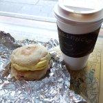 Coffee and English muffin