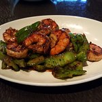 Big prawns in sweet and sour sauce