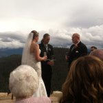 Wedding ceremony at the top of the chairlift!