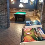 Game room, darts and pool table
