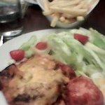 Lasagne, Chips & Salad