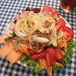 Lilliput salad, a start salad. Great vinaigrette!