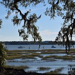 Only one block away, the tidelands and the main street into Downtown Beaufort. A very pleasant w