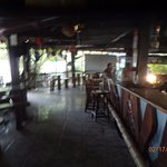 inside bar and dining area