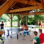 Table tennis, babyfoot, play area at Domaine de Gavaudun