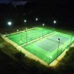 Floodlit tennis and multisports courts at Domaine de Gavaudun