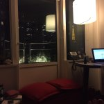 There's my (half) view of the Eiffel tower from the living room and my workstation in Paris