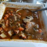 Caldo Gallego ... Galecian soup with chunks of pork, vegs, and delicious broth