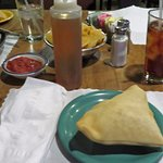 Free delicious sopapilla, hot, fresh and served with honey