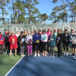 Group of new friends enjoying pickleball