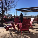 Sitting outside in February - amazing!  Only restaurant with outside open seating today that we
