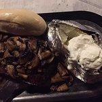 Steak, based potato & bread