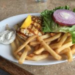 Fresh Grilled Grouper Sandwich with Fries