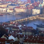 View from the top of Petrin Tower - Charles Bridge