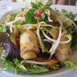 Calamari with asian salad (gluten free)